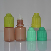 eye dropper PE bottle with child-proof cap amber color plastic bottle 5ml