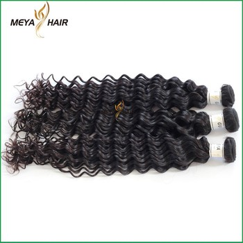 Sexy lady products Brazilian virgin hair female star hair weaving deep wave on website