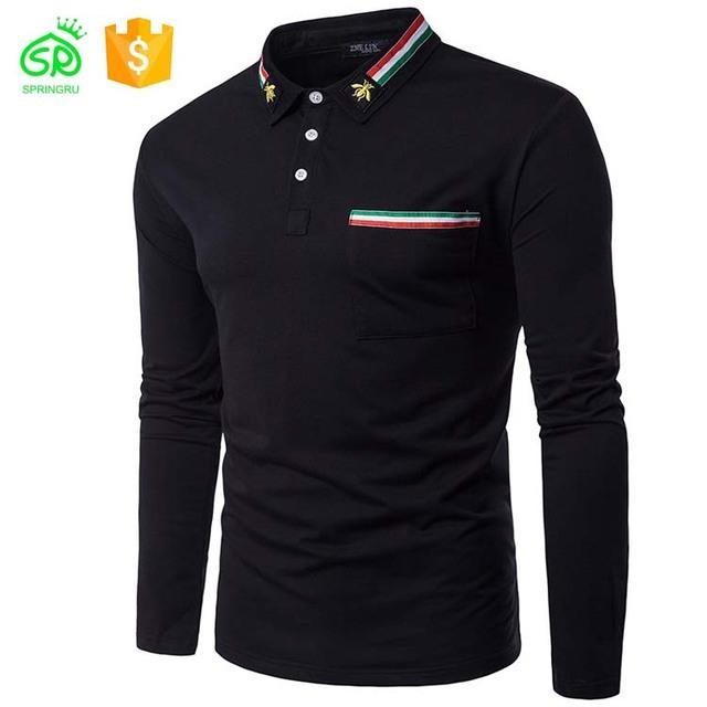 Wholesale Man Fancy Polo Stripe Polo Collar T-shirts