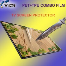Chinese Manufacturers Anti Explosion PET+TPU Combo Screen Protector For TV/LCD/Computer, Anti Shock Screen Guard For Large Size/