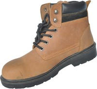 Crazy horse leather safety working boots
