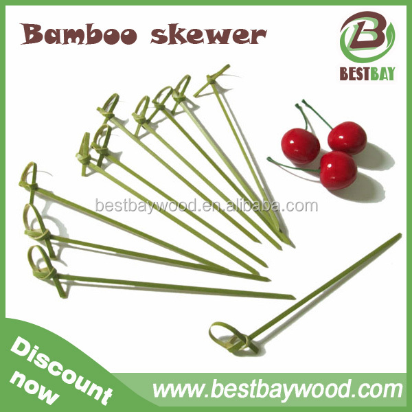 Factory discount price wholesale bamboo knot skewers,bamboo skewers