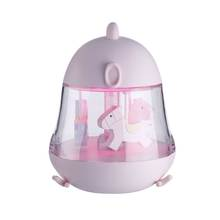 Hot sale Portable mini led animal star baby colorful night light with music for child