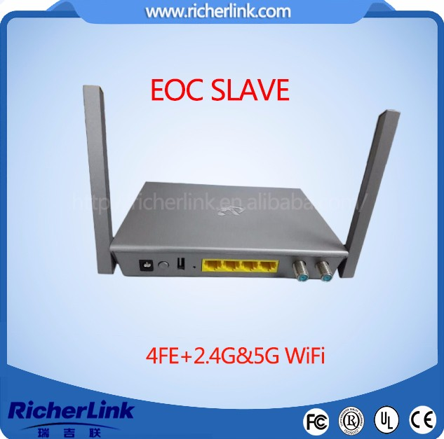 2.4G and 5G WIFI EoC Slave EoC master for internet over coax solution support catv