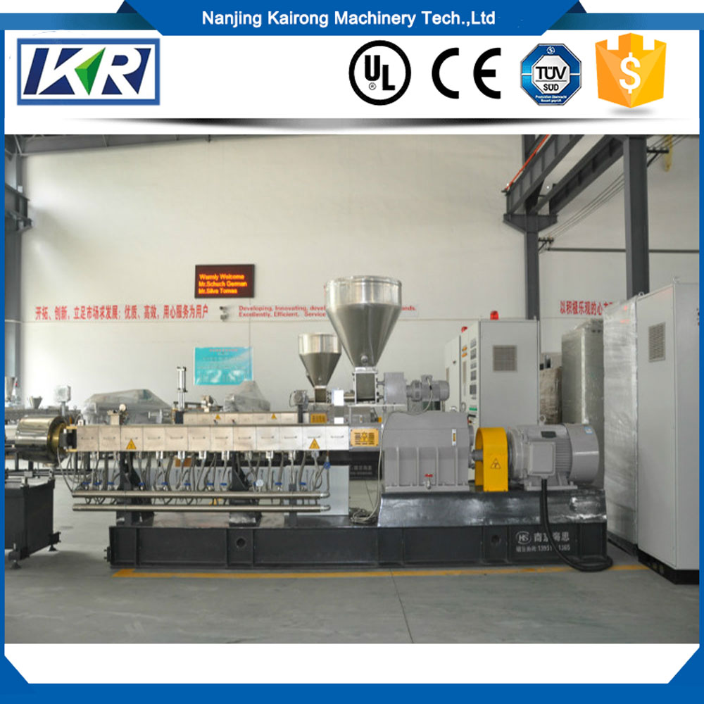 Virgin LDPE HDPE Granules Recycling Twin Screw Extruder/Glass Fiber Hot Cutting Pelletizing Extrusion for Color Masterbatch