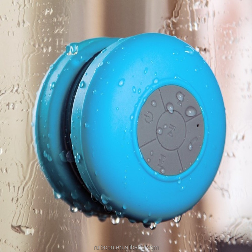 Original design waterproof bluetooth speaker for shower with suction cup