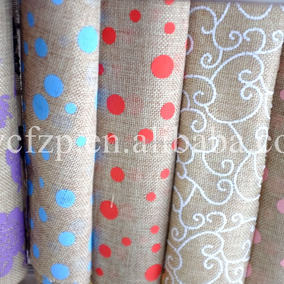 jute-like fabric roll for table runner for party home decoration