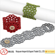 Wholesale Laser-Cutting Wedding Felt Napkin Rings From Alibaba Gold Supplier