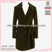 Trendy turndown collar single-breasted gothic long winter coat