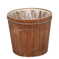 Home need and beautiful Wooden Root Carving High Barrel Bucket