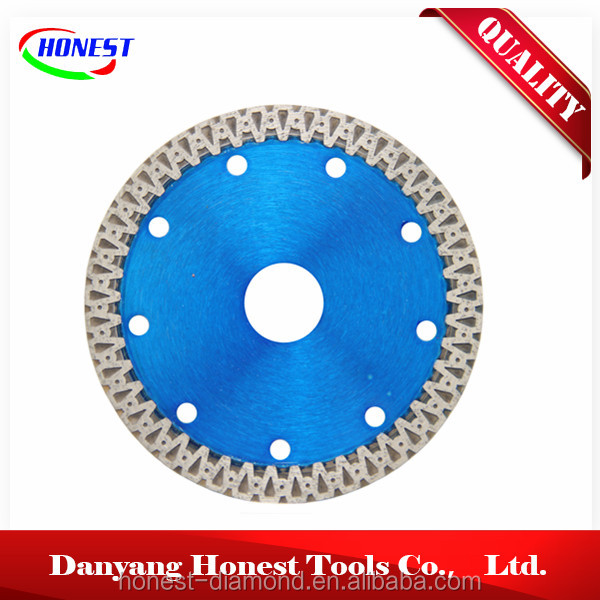 110mm hot press sintered super thin turbo porcelain cutting diamond saw blade