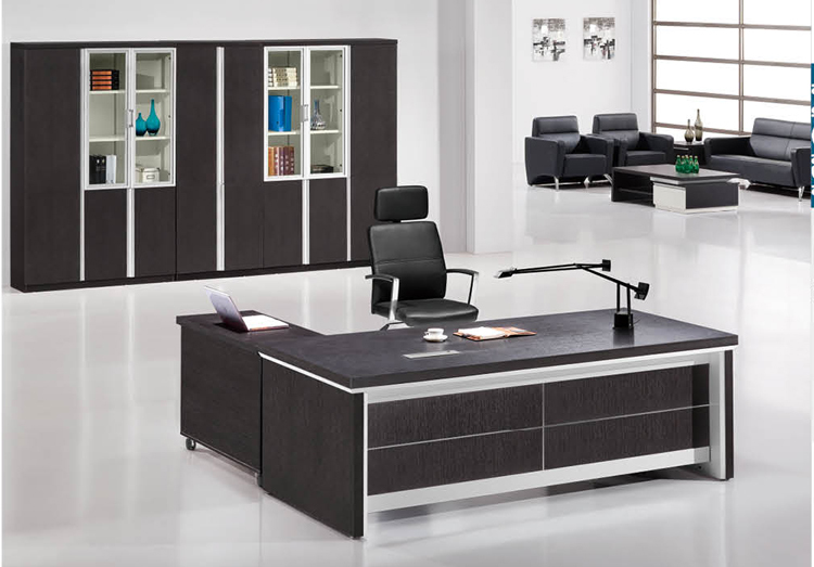 Simple maple modern executive desk office table design for Director office room design