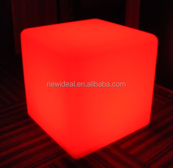 20cm/30cm IP65 waterproof 16 colors change rechargable plastic led cube, cube led, led light cube(NJ1530-S&NJ1530-M)