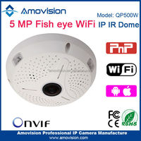 Amovision&Escam Fisheye QP500W P2P WIFI Onvif 360 free driver webcam laptop camera