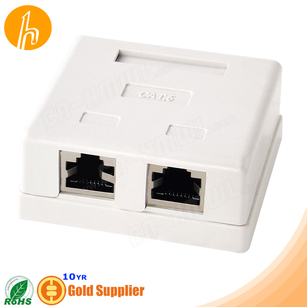 Shielded Cat6 RJ45 Surface Mount Jack Box HM-HB09