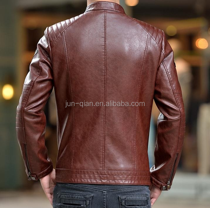 black fashion pu leather jacket pakistan for mens suit