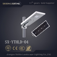 Latest High Powered Outside IP65 25W Outdoor LED All-in-One Integrated Solar Street Light with pole