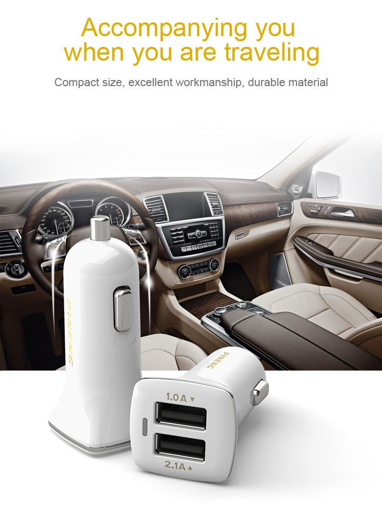 Multifunctional double usb smart universal mobile phone 2 ports usb car charger
