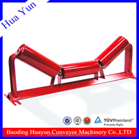 114mm Dia Easy Maintenance Belt Conveyor Carrier Roller Troughing Cylinder Carrier Idler