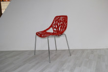 modern cheap plastic back with metal legs garden or dining ,living room ,outdoor plastic vegetal chairs