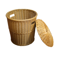 2017 hot offer high quality plastic rattan baskets handmade wicker hamper basket