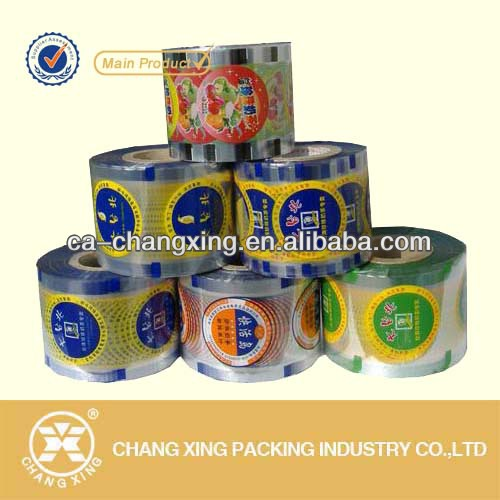Plastic cup sealing film for PE,PS,PP,PET,PVC cup seal