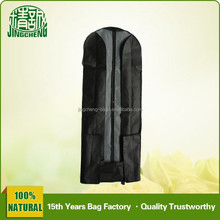 Black Color Non Woven Material Wedding Dress Garment Bags