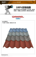 Colorful Stone Metal Roof Tile / Classical Type 1170*420*0.4mm For South Africa