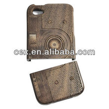 High Quality Natural Handmade Hard Walnut Wooden Case for Apple iPhone 5 5S