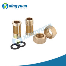 Quality Guaranteel 3 way brass hose connector with valve O-ring lead water pipe head ferrule compression brass fitting