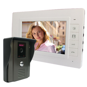 Saful 7 inch wired color video door phone 1 monitor 1camera with doorbell