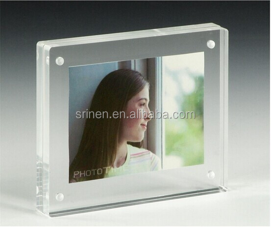 SJ-212 Free Samples 5x7 Acrylic Magnet Photo Frame