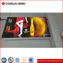 low price portable Indoor or outdoor sign board Advertising fabric menu display light box