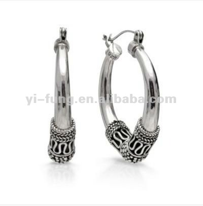 Artisan Crafted Sterling Silver Hoop Earrings