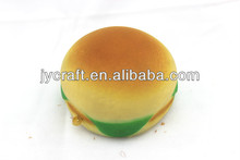 soft PU fake hamburger food model for keychain ornaments