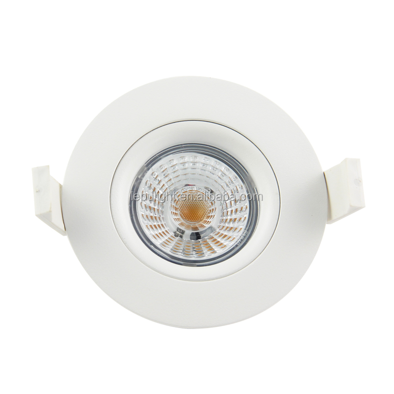 360 angle tilt new Gyro design cob led downlight 83mm cutout CRI 93ra warm white 2700k 3000k 4000k
