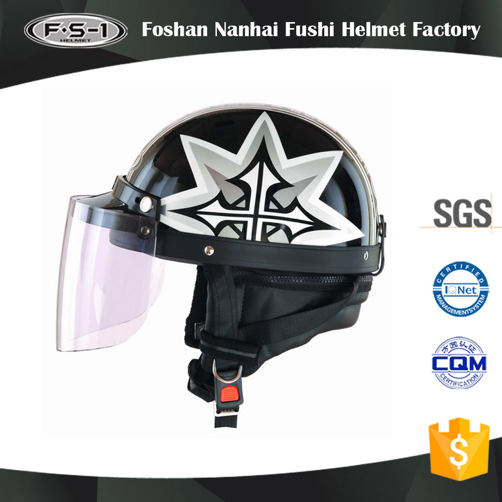 Top selling ls2 motorcycle half face helmet with dot white images