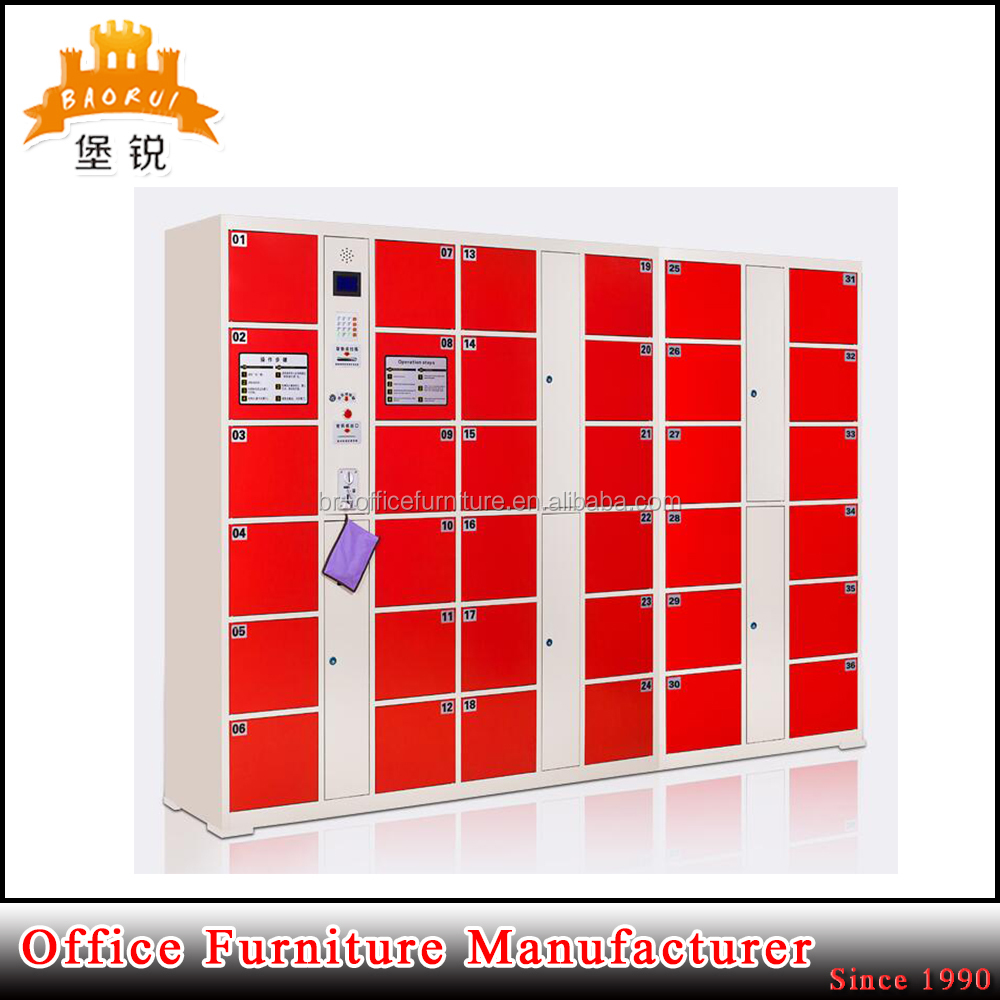 Public Supermarket/library/airport Used Electronic Barcode Storage Luggage Locker Automatic Locker