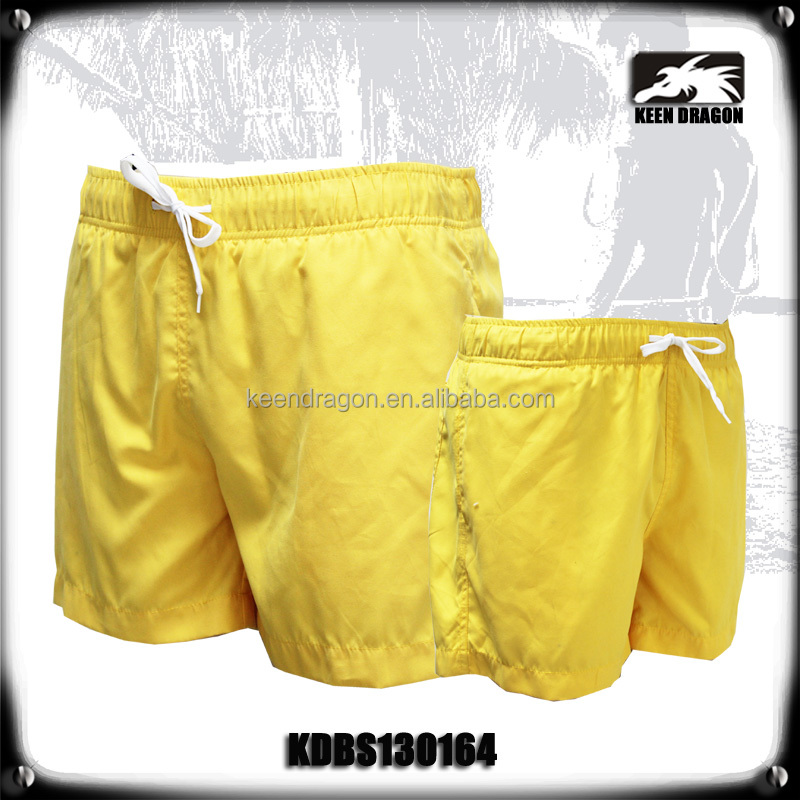 mens custom short shorts elastic waistband sex beach wear