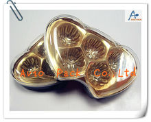 Clear Heart-Shaped Chocolate Plastic Box