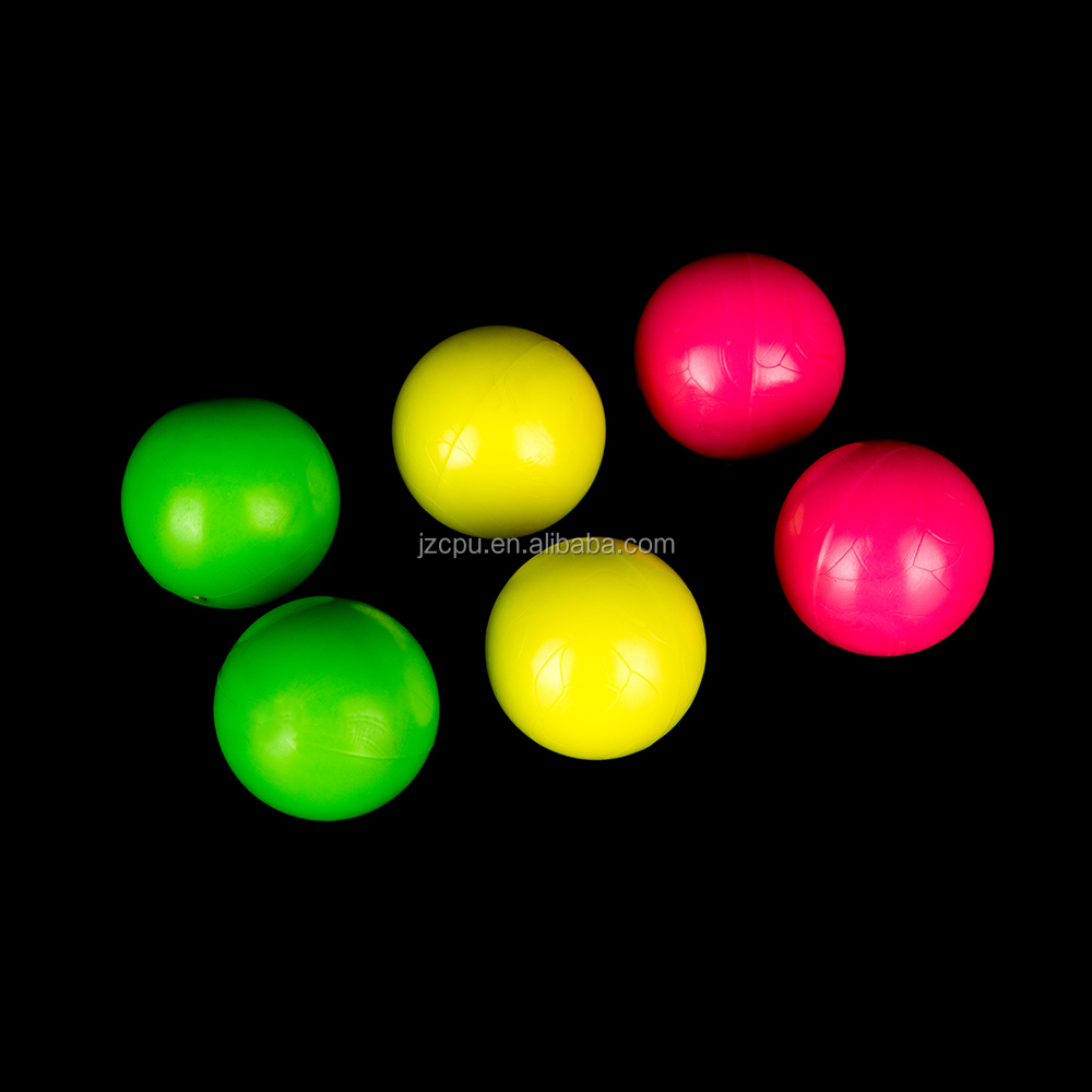 Injection molding colorful polyurethane solid plastic balls
