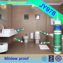 jy 978 adhesive bathroom shelf and kitchen neutral water proof antibacterial silicone sealant