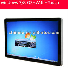 55 inch wall mounting large touch screen computer with best pc monitor