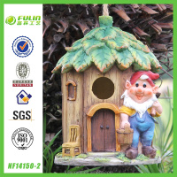 Garden Gnome Resin Bird Cage /Bird house
