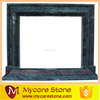 Mycare Stone green marble fireplace for Interior decoration