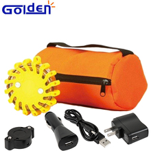 Portable emergency flashing road hazard warning light