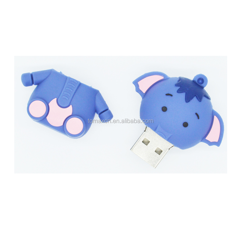 Hot cartoon elephant flash memory usb for dropship gadgets