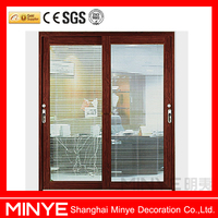 used sliding glass doors sale/2014 hot designs Awesome commercial Sliding Glass Doors With inner Blinds by remote controlled