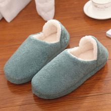 2017 New Velvet Winter Slippers with Backup Slip on Autumn Women Indoors Shoes Thermal Plush Footwear For Ladies