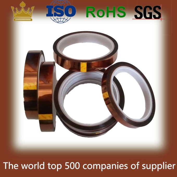 500F Silicone Polyamide Heat Resistant Adhesive Tape For Ceramics Metal